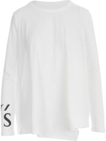 Y's Ps  Logo Pigment Flash L/s T-shirt
