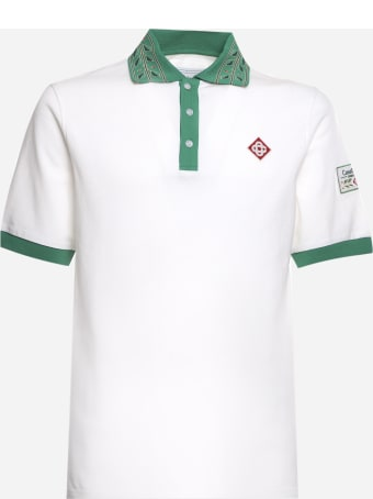 Casablanca Cotton Polo Shirt With Contrasting Details