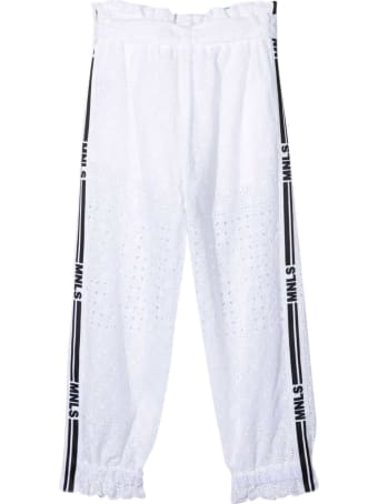 Monnalisa Sporty White Trousers
