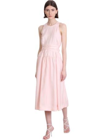 3.1 Phillip Lim Midi Dress Dress In Rose-pink Silk