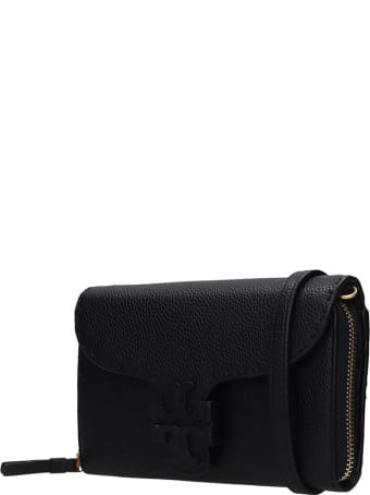 Tory Burch Mcgraw Wallet Clutch In Black Leather