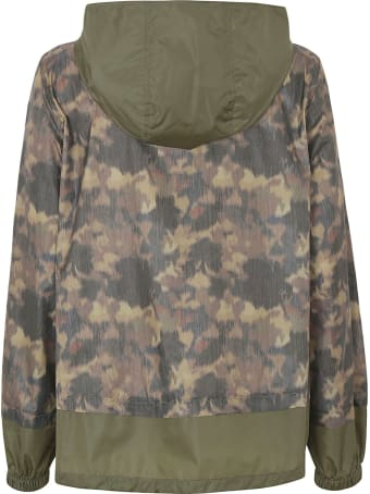 Fay Printed Zipped Raincoat