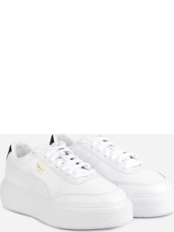 Puma Select Oslo Maja Sneakers In Leather With Contrasting Heel Tab