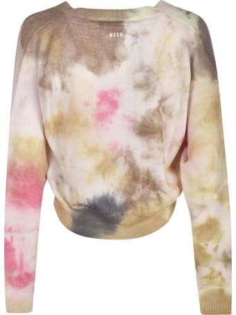 MSGM Dye Cropped Cardigan