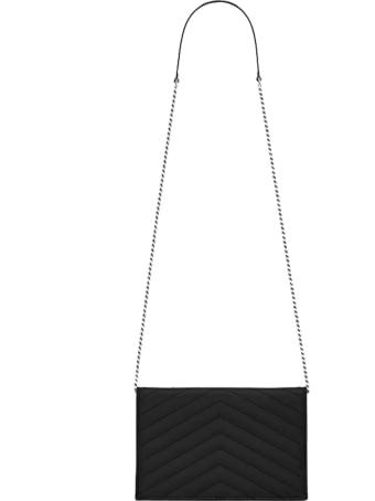 Saint Laurent Envelope Wallet With Chain