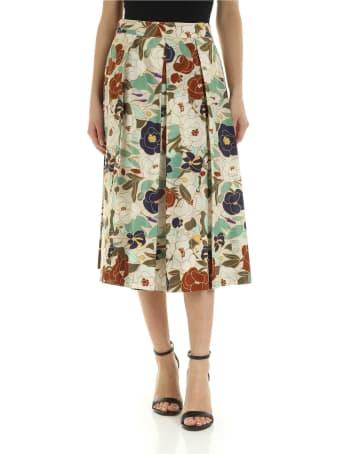 Ballantyne Printed Silk Skirt