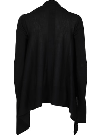 Rick Owens Black Virgin Wool Cardigan