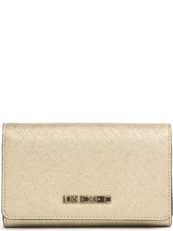 Love Moschino Gold Pvc Logo Wallet