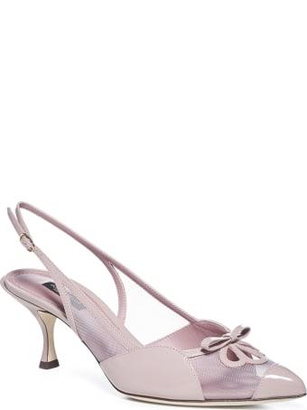 Dolce & Gabbana Slingback Gloss Net High-heeled Shoe