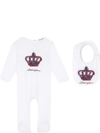 Dolce & Gabbana Newborn White Onesie