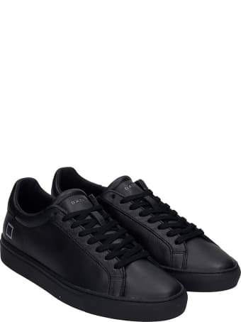 D.A.T.E. Newman Sneakers In Black Leather