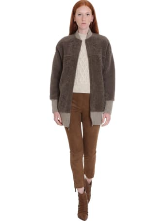 Salvatore Santoro Leather Jacket In Beige Leather