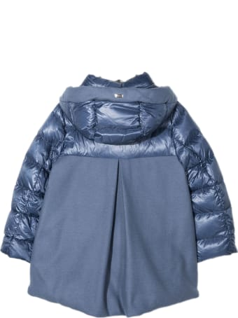 Herno Ice Blue Goose-down Hooded Jacket