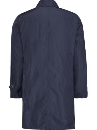 Add Techno Fabric Trench Coat