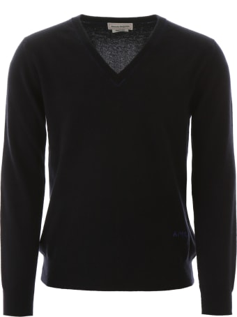 Alexander McQueen Pullover With Embroidered Logo