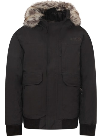 The North Face Black Boy Parka With Black Logo