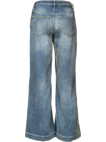 Jacob Cohen Jacob Cohen Light Blue Wide-leg Denim