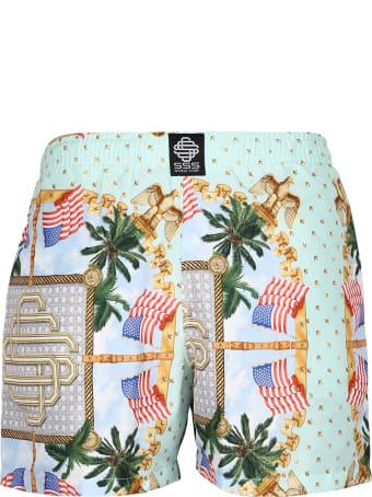 SSS World Corp Printed Swim Shorts