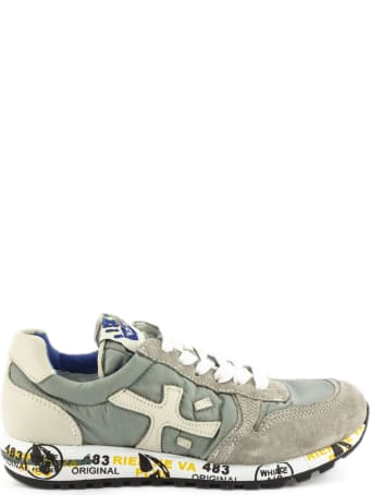 Premiata Sneaker In Grey Suede Upper And Nylon