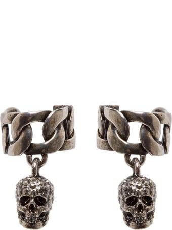 Alexander McQueen Skull Chain Earcuff