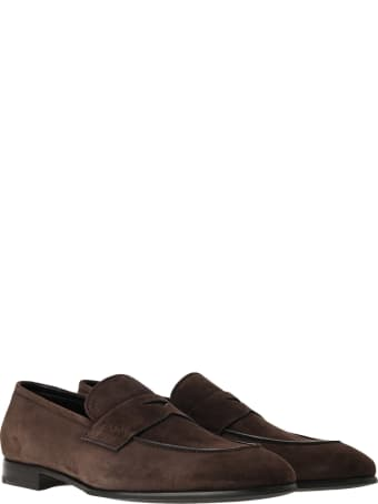 Prada Suede Penny Loafers
