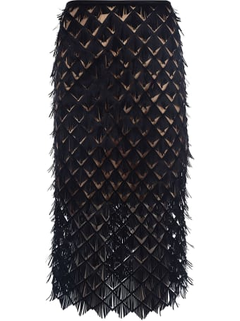 Paskal Laser Cut Midi Skirt