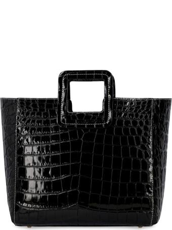 STAUD Shirley Croco-print Leather Bag