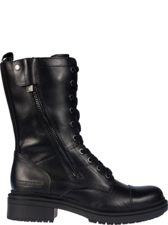 Bikkembergs Side Zipped Lace-up Boots
