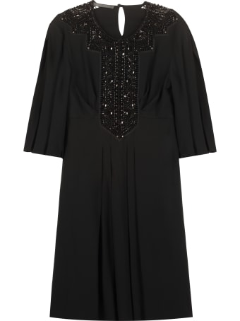 Alberta Ferretti Embroidered Dress With Beads