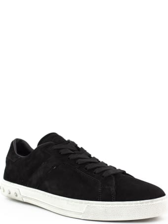 Tod's Sneakers In Black Suede