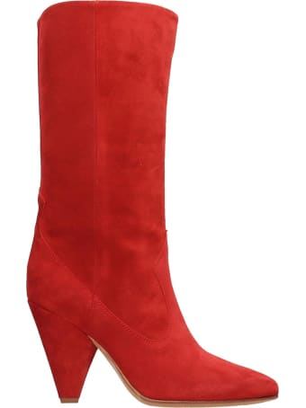 Buttero Red Suede Boots