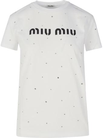 Miu Miu Logo Crystal
