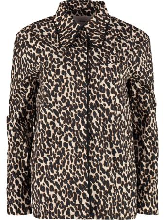 La DoubleJ Leopard Print Poplin Shirt