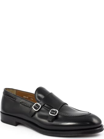 Doucal's Black Leather Loafer