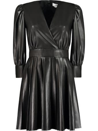 MSGM Faux Leather Dress