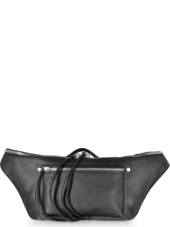 Rag & Bone Black Leather Large Elliot Fanny Pack / Belt Bag