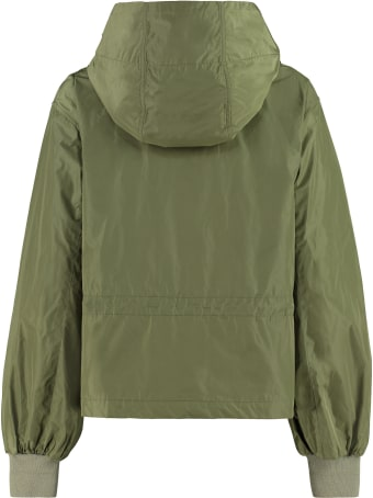 Add Technical Fabric Hooded Jacket