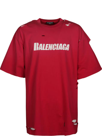 Balenciaga Distressed Logo T-shirt