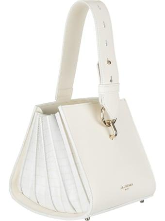 Sara Battaglia Virgi Bucket Ivory Bag