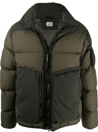 C.P. Company Military Green Cotton Padded Jacket