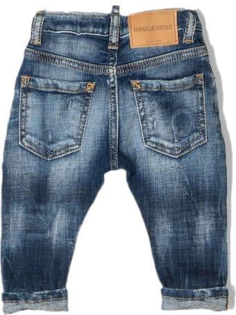 Dsquared2 Blue Cotton Denim Jeans