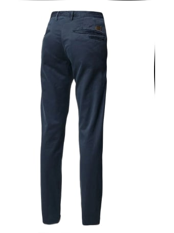 Incotex Red Blue Stretch Cotton Chino Trousers Incotex Red