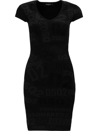 Dsquared2 All Over Logo Dress