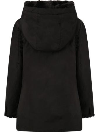 Woolrich Black Jacket For Girl