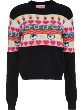 Chiara Ferragni Intarsia Wool And Cashmere Blend Sweater