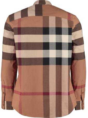 Burberry Stretch Poplin Cotton Shirt