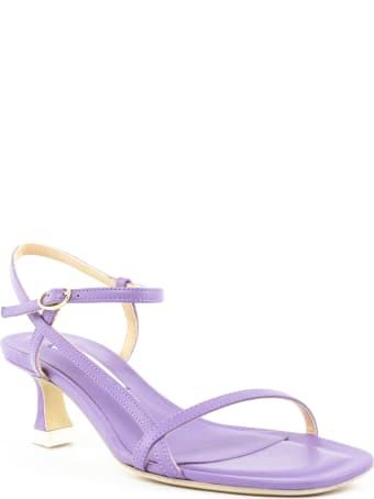 Roberto Festa Lavender Leather Sion Sandals
