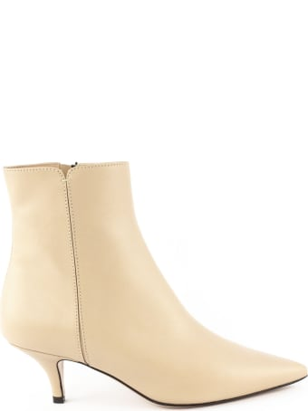 Roberto Festa Ankle Boot In Powder Leather