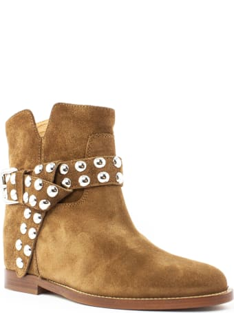 Via Roma 15 Brown Suede Ankle Boot