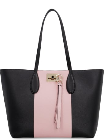 Salvatore Ferragamo Pebbled Leather Tote